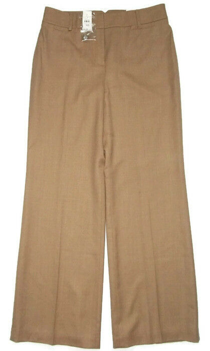 Ann Taylor LOFT Tan Wool LAURA Pants-Flare Leg-Womens-Sz 10  NWT