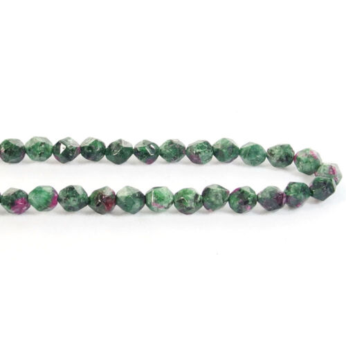 """Natural Jade 8mm Faceted Spacer Diamond Shape Stone Beads Strand 15/"""" jewelry DIY"""