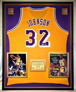 94e0dd84c Image is loading Premium-Framed-Magic-Johnson-Autographed-Los-Angeles-Lakers -