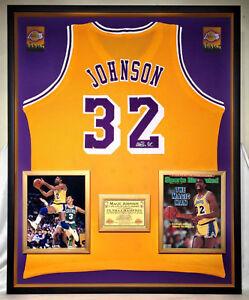 94e0dd84c Image is loading Premium-Framed-Magic-Johnson-Autographed-Los-Angeles-Lakers -