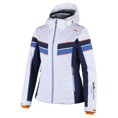 CMP mtex snowboardjacke invierno chaqueta blanco capucha impermeable Stretch