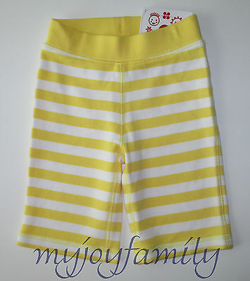 HANNA ANDERSSON Landing Pants Stripe So Sunny Yellow White 80 18-24 months NWT