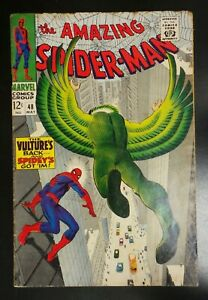 Amazing-Spider-Man-48-Marvel-Comic-1967-1st-Blackie-Drago-as-Vulture