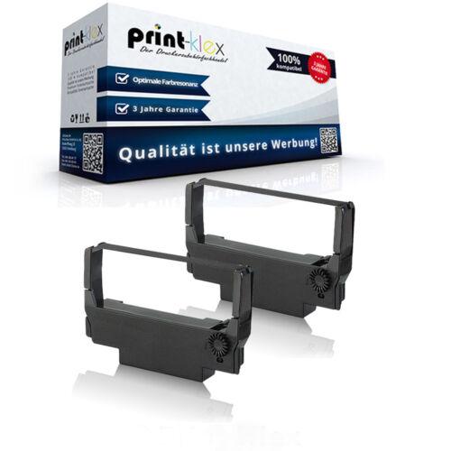 2x Alternative Schriftbänder für Epson ERC 30 Farbband TTR Office Plus Serie