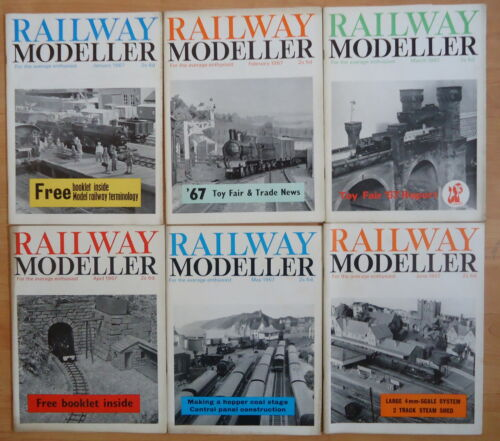 Railway Modeller 1967 12 issues Jan,Feb,Mar,Apr,May,Jun,Jul,Aug,Sep,Oct,Nov,Dec