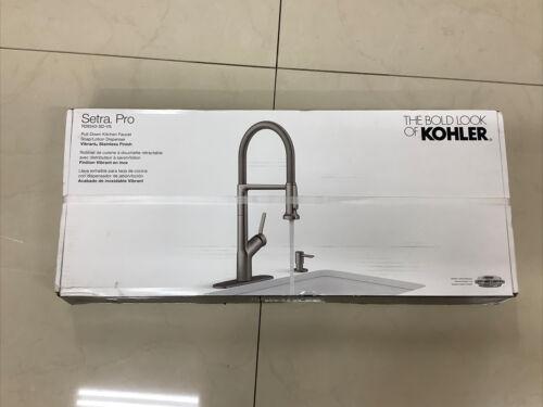 New Kohler Setra Pro Handle Semi Kitchen Sink Faucet Soap Dispenser MSRP $299