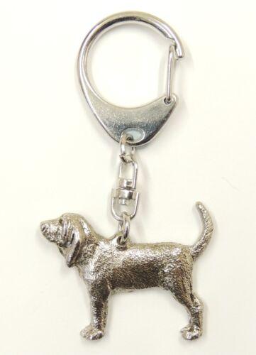 Bloodhound Silver Keyring