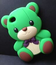 **ADORABLE & CUTE 3D GREEN TEDDY BEAR THICK SILICONE IPHONE 4/4S CASE**