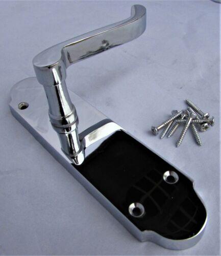 Chrome Espom Style Scroll Door Handles Shaped Back Plate Door Handles 8 Pairs