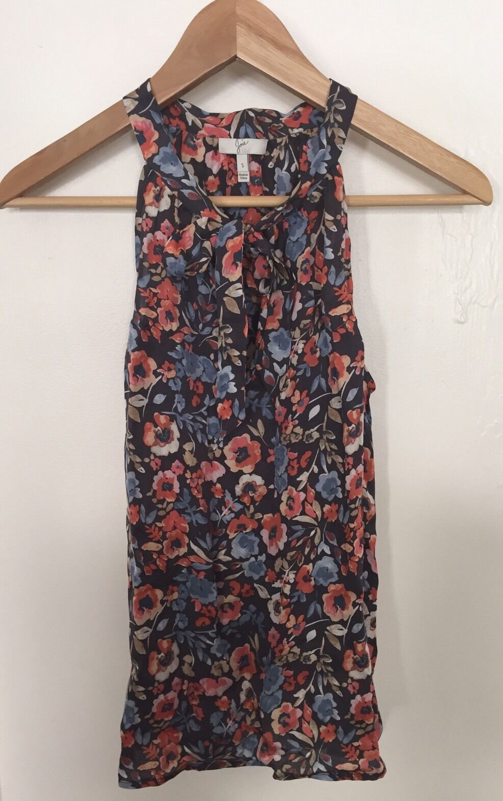 JOIE Floral Sheer Sleeveless Pussybow Blouse Größe S NWOT