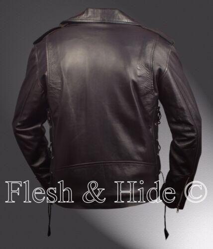 veste Marlon moto The de Johnny Brando La Wild One classique mN80nw