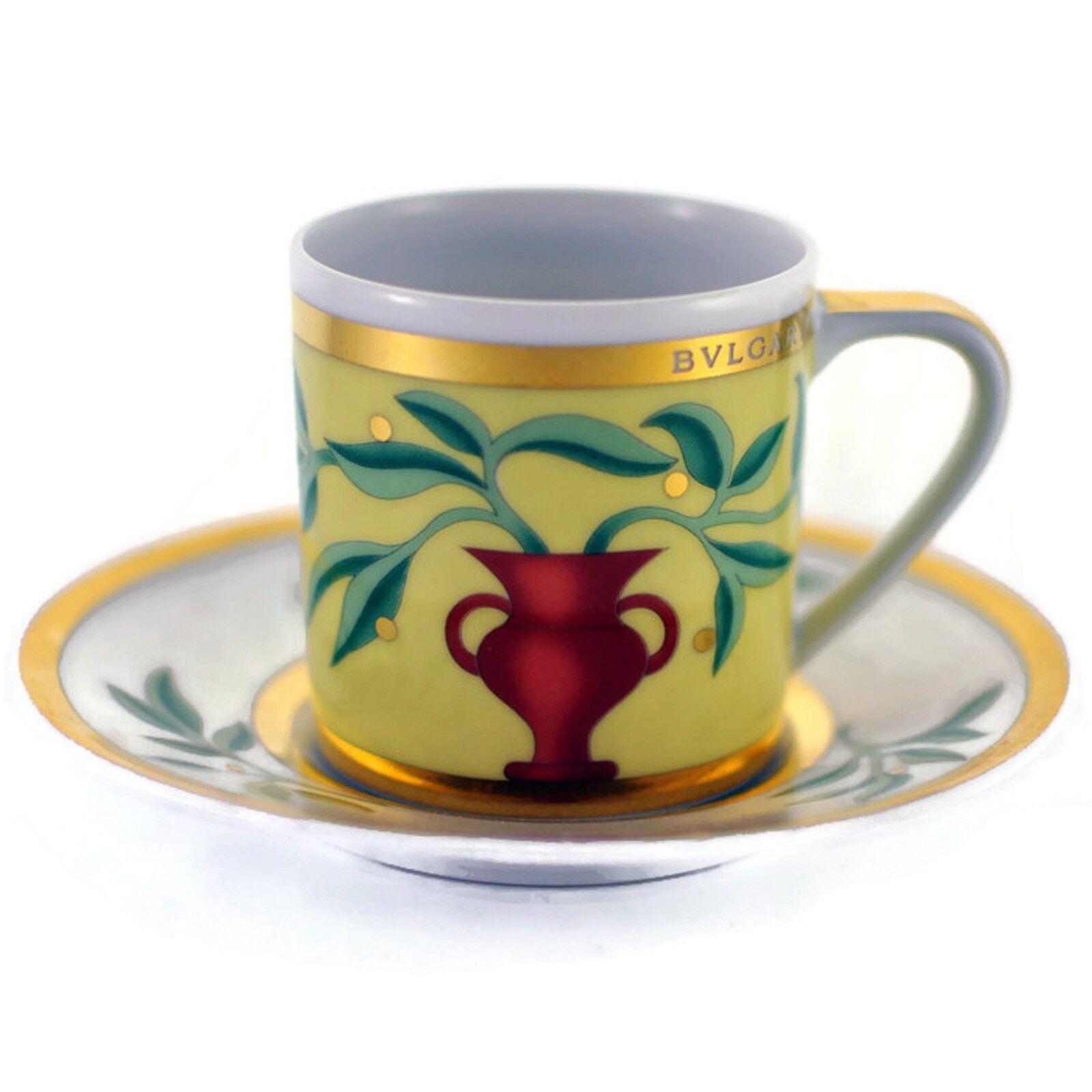 Bulgari Rosenthal Porcelain-Itaca Espresso Tasse & Soucoupe