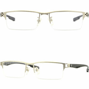 4c88dafb89 Details about Light Men s Women s Titanium Alloy Frames Rectangle  Prescription Glasses Silver