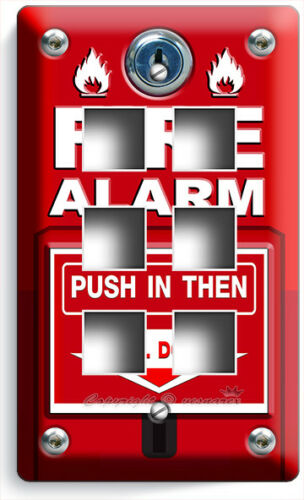 FIRE ALARM PULL DOWN AND PUSH LIGHT SWITCH OUTLET WALL PLATE COVER ROOM HD DECOR