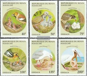 Never Hinged 1995 Birds Comfortable And Easy To Wear Imported From Abroad Benin 685-690 Unmounted Mint Stamps