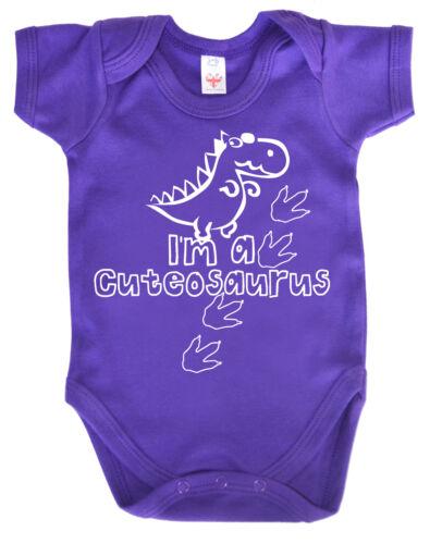 "Lustig Dinosaurier Body /"" I/'M A Cuteosaurus /"" Strampler Weste Baby Geschenk"