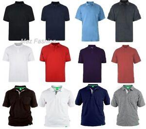 Mens Duke & Kam Big Polo Shirt Tall King Size Designer Casual Pique Top 2XL-8XL