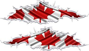 Canadian Checkered Flag decal Camper RV motor home mural graphic