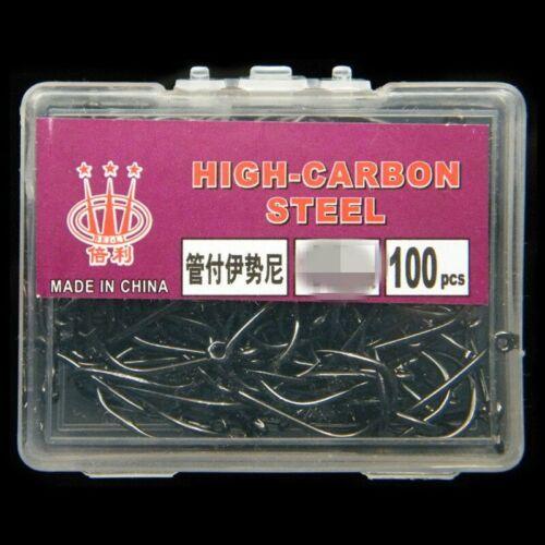 100 pièce//boîte de crochets en acier à haute teneur en carbone avec crochets