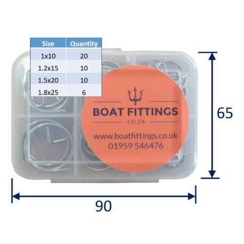 Bague acier inoxydable Pins Kit 46 pièces 316 Marine Grade