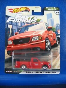 Hot Wheels Premium Fast Furious Motor City Muscle Ford F150 Svt Lightning Ebay