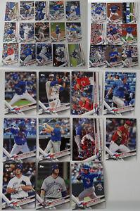 2017-Topps-Series-1-amp-2-Update-Toronto-Blue-Jays-Team-Set-35-Baseball-Cards