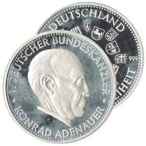 Münze Deutschland 2001 Konrad Adenauer 1 Deutscher Bundeskanzler