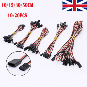 5 Pcs JR//Futaba Style Servo 1 to 2 Y Harness Leads,Splitter Cable,Male to Female Extension Lead Wire for RC Models Airplane,Length is 7 cm