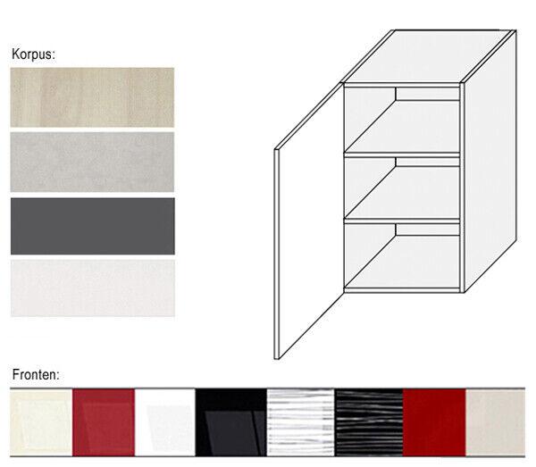 Hängeschrank Küchenschrank 50cm Küche Drehtür Hochglanz Farbe wählbar (PN-W2 50) 50) 50) 025fc5
