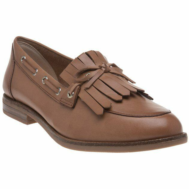 New femmes Caprice Tan 24208 Leather chaussures Flats Slip On