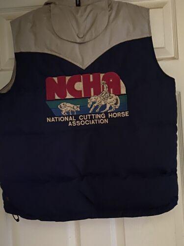 NCHA Cutting Horse vest  Powder River Vest Mens sm