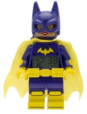 "Lila 24 cm Lego-Uhr /""Batgirl/"" Batman Movie  Kinder Wecker Gelb Minifigur"
