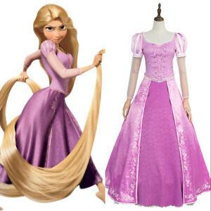 Disney Entremele Princesse Raiponce Robe De Soiree Cosplay Costume Adulte Enfant Taille Ebay