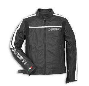 DUCATI-Dainese-80s-14-Lederjacke-perforiert-Jacke-Leather-Jacket-schwarz-NEU