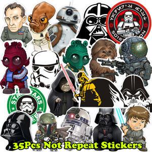 35Pcs-Lot-Vinyl-Star-Wars-Graffiti-Stickers-Bomb-For-Laptop-Car-Skateboard-Decal
