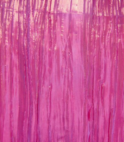 Pink Shiny Pleated Lame Fancy Dress Fabric 125cm Wide Sold Per Metre