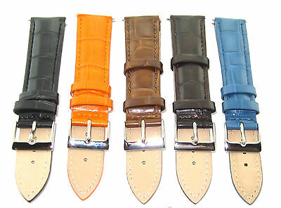18-19-20-21-22-23-24MM GENUINE CROCO LEATHER WATCH BAND STRAP FOR EMPORIO ARMANI