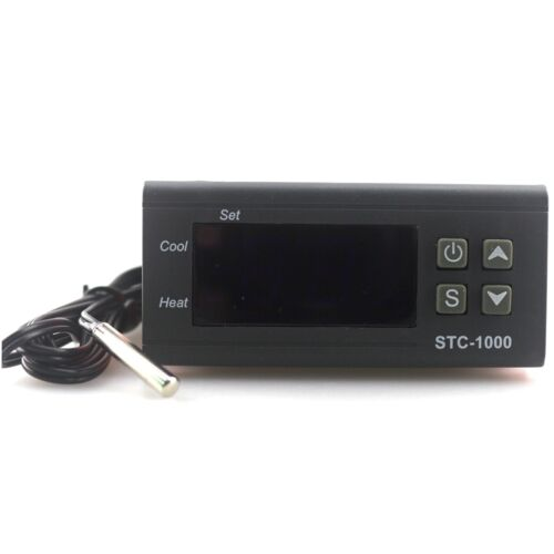 LED Digital Temperature Controller 110V STC-1000 Thermostat Control Sensor Probe