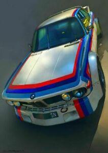 Plaque métal   voiture de course  30 X 20 CM