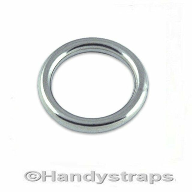 6mm x 25mm Stainless Steel Round Ring FREE Postage /& Packaging!