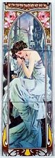 """""""Seconds"""" Nightly Rest Tile Panel Mucha Lady Mural Tile Panel Hand Made UK"""