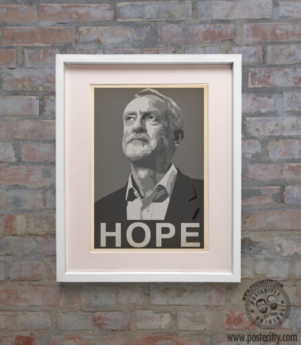 A3 Poster JEREMY CORBYN HOPE Vote Labour Party June Election by Posteritty A4