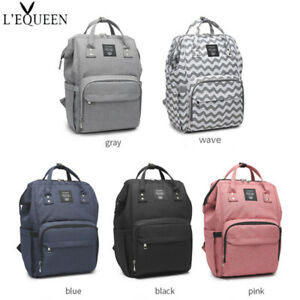 1d6d63defc17 Details about LEQUEEN Diaper Bag Multi-Function Waterproof Travel Backpack  Mummy Nappy Bags