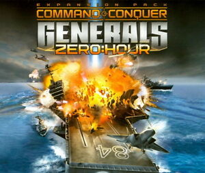 Command-and-Conquer-Generals-Zero-Hour-Expansion-pack-PC-2-CDs-unused-Code