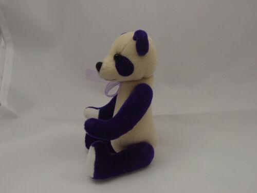 "World of Miniature Bears 4/""  Plush Panda Bear Purple #872-PP"