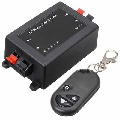 100% Vero Wireless Remote Led Rf Dimmer Controller Lampada Di Controllo 12v 8a Interruttore Singolo-mostra Il Titolo Originale Morbido E Leggero