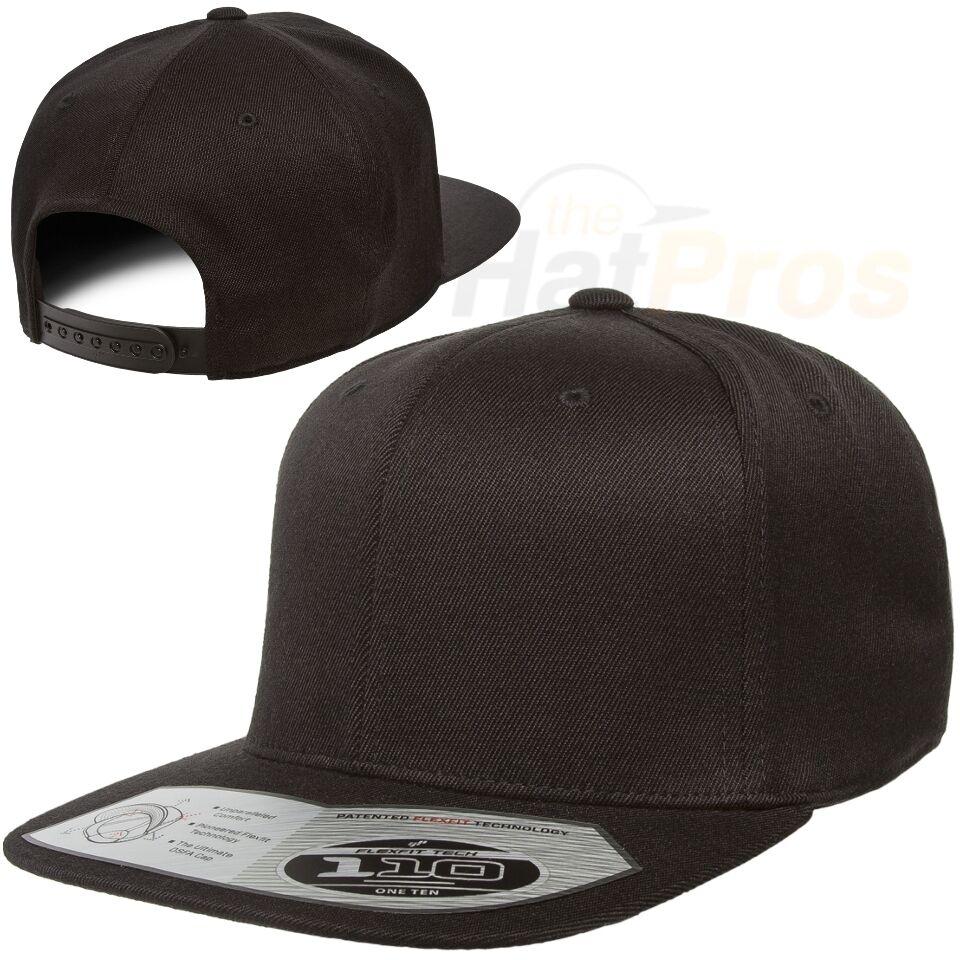 4531f4c4ab9 Flexfit® Flat Bill Snapback Baseball Cap with Velcro (Hook   Loop) Closure  110