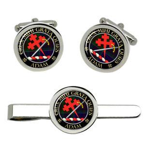 Adam-Scottish-Clan-Cufflinks-and-Tie-Clip-Set