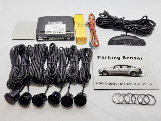 CISBO PARKING REVERSING FRONT AND REAR 6 SENSORS BUZZER LED DISPLAY SYSTEM