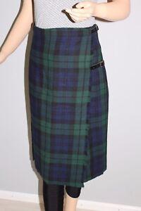 Röcke Röcke Vintage True Vtg Midi Rock Schottenrock Wickelrock Kariert Scottish Kilt Skirt